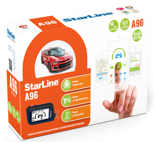 StarLine A96 BT 2CAN+2LIN 2SIM GSM